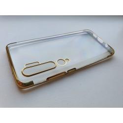 Silikonový obal s barevným rámečkem na Xiaomi Mi Note 10 - Zlatá