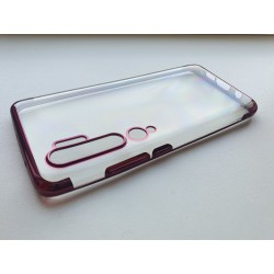 Silikonový obal s barevným rámečkem na Xiaomi Mi Note 10 - Fialová