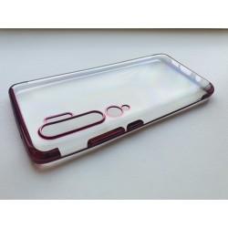 TPU obal na Xiaomi Mi Note 10 Pro s barevným rámečkem - Fialová