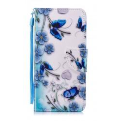 Obrázkové pouzdro pro Xiaomi Redmi 8 - Modří motýlci
