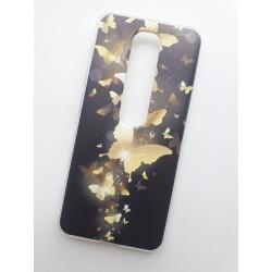Silikonový obal s potiskem na Vodafone Smart N10 - Zlatí motýli