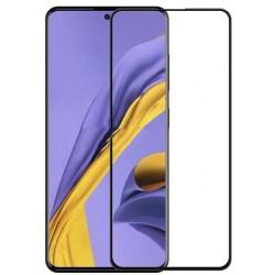 Tvrzené ochranné sklo na mobil Samsung Galaxy A71 - černé