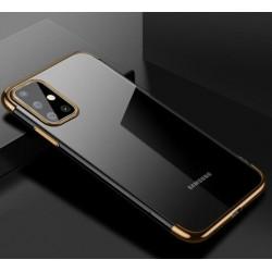 TPU obal s barevným rámečkem na Samsung Galaxy A71 - Zlatá