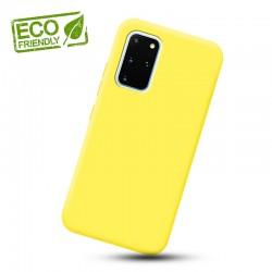 Liquid silikonový obal na Samsung Galaxy S20+   Eco-Friendly - Žlutá