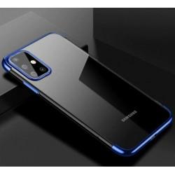 TPU obal s barevným rámečkem na Samsung Galaxy S20 Ultra - Modrá