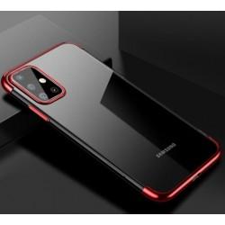 TPU obal na Samsung Galaxy S20 Ultra s barevným rámečkem - Červená