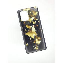 Silikonový obal na Samsung Galaxy A71 s potiskem - Zlatí motýli
