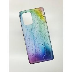Silikonový obal na Samsung Galaxy A71 s potiskem - Kapky