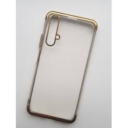 TPU obal na Honor 20 Pro s barevným rámečkem - Zlatá