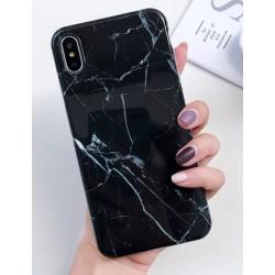 Obal s motivem mramoru na iPhone 11 Pro - Černá