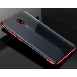TPU obal na Xiaomi Redmi 8 s barevným rámečkem - Červená