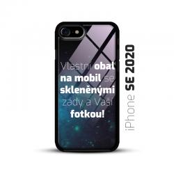 Obal s vlastní fotkou a skleněnými zády na mobil iPhone SE 2020