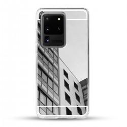 Zrcadlový TPU obal na Samsung Galaxy S20 Ultra - Stříbrný lesk