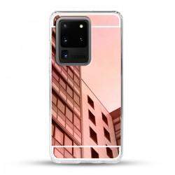 Zrcadlový TPU obal na Samsung Galaxy S20 Ultra - Růžový lesk