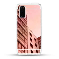 Zrcadlový TPU obal na Samsung Galaxy S20 - Růžový lesk