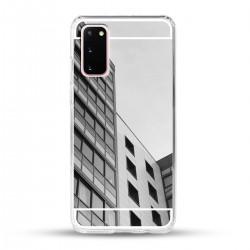 Zrcadlový TPU obal na Samsung Galaxy S20 - Stříbrný lesk