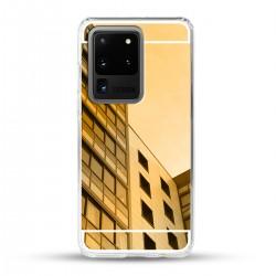 Zrcadlový TPU obal na Samsung Galaxy S20 Ultra - Zlatý lesk