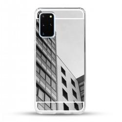 Zrcadlový TPU obal na Samsung Galaxy S20+ - Stříbrný lesk