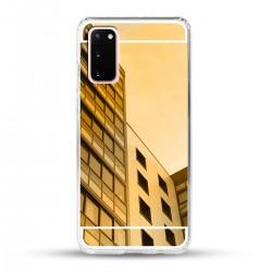 Zrcadlový TPU obal na Samsung Galaxy S20 - Zlatý lesk