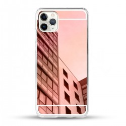 Zrcadlový TPU obal na iPhone 11 Pro Max - Růžový lesk