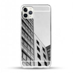 Zrcadlový TPU obal na iPhone 11 Pro - Stříbrný lesk