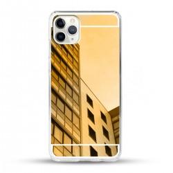 Zrcadlový TPU obal na iPhone 11 Pro - Zlatý lesk