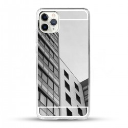 Zrcadlový TPU obal na iPhone 11 Pro Max - Stříbrný lesk