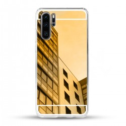 Zrcadlový TPU obal na Huawei P30 PRO - Zlatý lesk