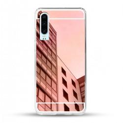 Zrcadlový TPU obal na Huawei P30 - Růžový lesk