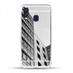 Zrcadlový TPU obal na Samsung Galaxy A40 - Stříbrný lesk