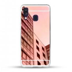 Zrcadlový TPU obal na Samsung Galaxy A40 - Růžový lesk