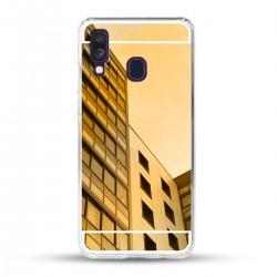 Zrcadlový TPU obal na Samsung Galaxy A40 - Zlatý lesk