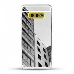 Zrcadlový TPU obal na Samsung Galaxy S10e - Stříbrný