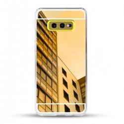 Zrcadlový TPU obal na Samsung Galaxy S10e - Zlatý