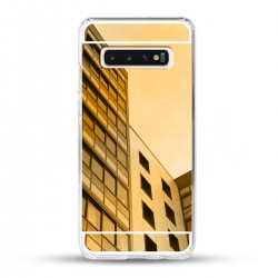 Zrcadlový TPU obal na Samsung Galaxy S10 Plus - Zlatý