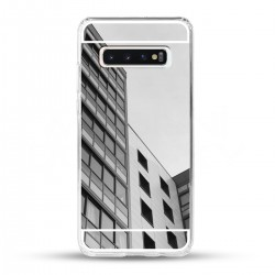 Zrcadlový TPU obal na Samsung Galaxy S10 - Stříbrný