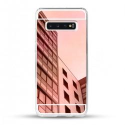 Zrcadlový TPU obal na Samsung Galaxy S10 - Růžový