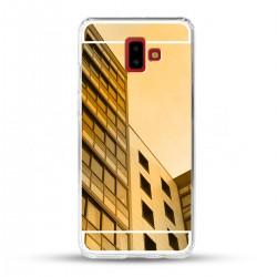 Zrcadlový TPU obal na Samsung Galaxy J6+ - Zlatý