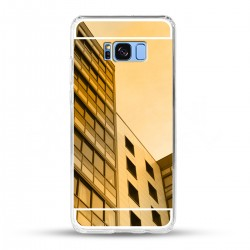 Zrcadlový TPU obal na Samsung Galaxy S8 Plus - Zlatý