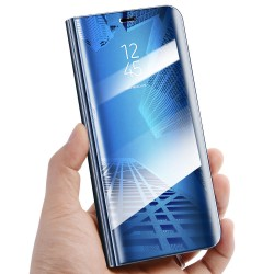 Zrcadlové pouzdro na Samsung Galaxy M21 - Modrý lesk