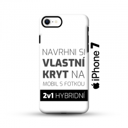 Odolný vlastní obal na iPhone 7 | Hybridní vlastní kryt 2v1