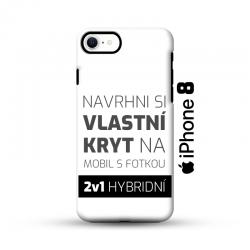 Odolný vlastní obal na iPhone 8 | Hybridní vlastní kryt 2v1