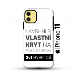 Odolný vlastní obal na iPhone 11 | Hybridní vlastní kryt 2v1