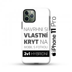Odolný vlastní obal na iPhone 11 Pro | Hybridní vlastní kryt 2v1