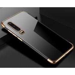 TPU obal na Huawei P Smart Pro s barevným rámečkem - Zlatá