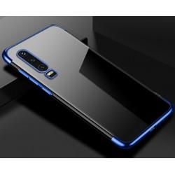 TPU obal na Huawei P Smart Pro s barevným rámečkem - Modrá