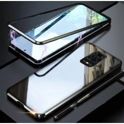 Magnetický kryt s tvrzeným sklem na Xiaomi Redmi Note 9S