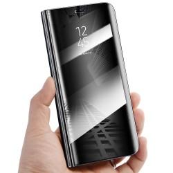 Zrcadlové pouzdro na Xiaomi Redmi Note 9S - Černý lesk