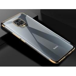 TPU obal na Xiaomi Redmi Note 9 Pro s barevným rámečkem - Zlatá