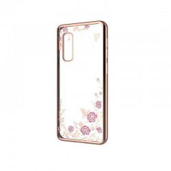 Silikonový obal s motýlky a květinami pro Xiaomi Mi 10